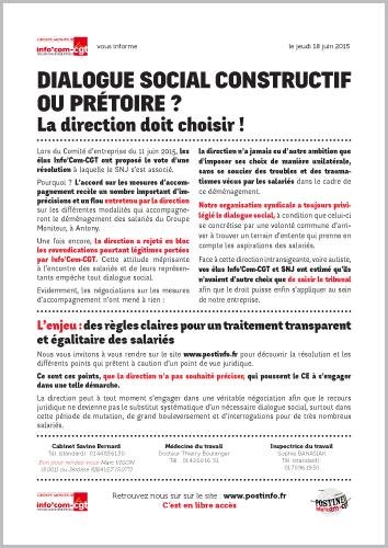 Groupe moniteur dialogue social constructif ou pr toire for Choisir moniteur